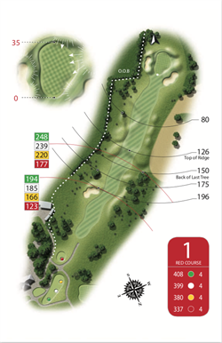 Red Course - Hole 1